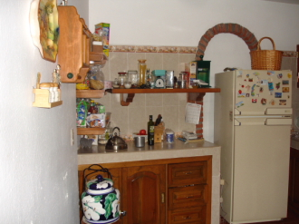 Kitchen in a shared house