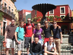 Students on the Plaza Baratillo